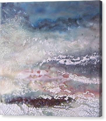 Lacy Surf Canvas Print by Victoria Primicias
