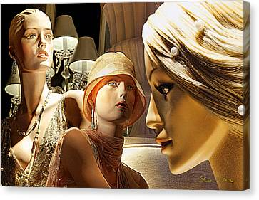Ladies Of Rodeo Drive Canvas Print by Chuck Staley
