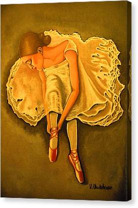 Lady Ballerina Canvas Print by Victoria Rhodehouse