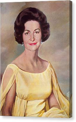 Lady Bird Johnson, First Lady Canvas Print by Science Source