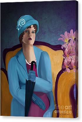 Lady Blue Canvas Print by Sydne Archambault
