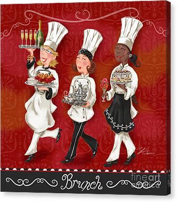 Lady Chefs - Brunch Canvas Print by Shari Warren