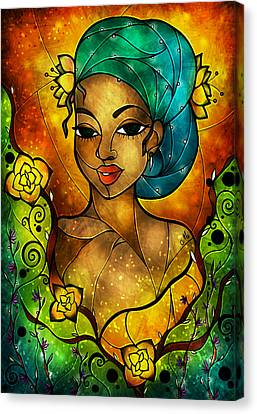 Lady Creole Canvas Print by Mandie Manzano