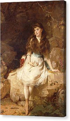 Lady Edith Amelia Ward Daughter Of The First Earl Of Dudley Canvas Print by George Elgar Hicks
