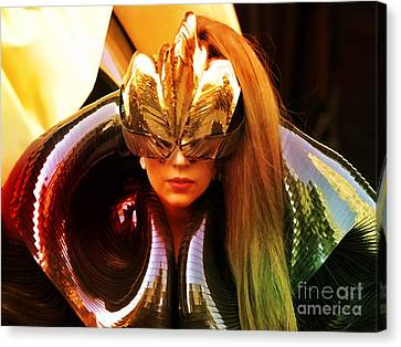 Lady Gaga Painting Canvas Print by Marvin Blaine