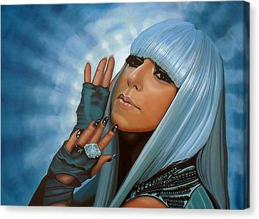 Lady Gaga Painting Canvas Print by Paul Meijering