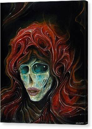 Lady Goddess Of The Night Canvas Print by Robert Anderson