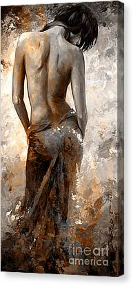 Lady In Red #27 Digital Colored Rust Canvas Print by Emerico Imre Toth