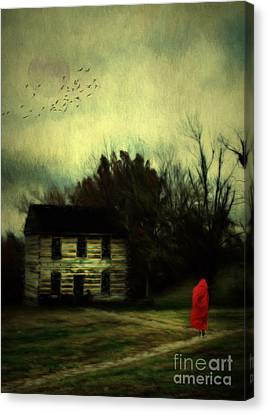 Lady In Red Canvas Print by Darren Fisher