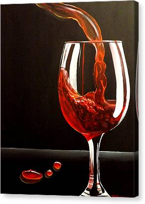 Lady In Red Canvas Print by Darren Robinson