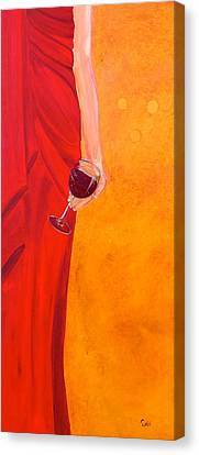 Lady In Red Canvas Print by Debi Starr
