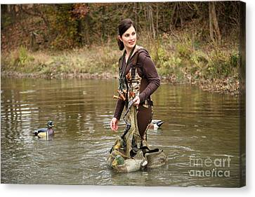 Lady In The Water Canvas Print by Suzi Nelson