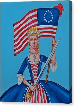 Lady Liberty Canvas Print by Beth Clark-McDonal