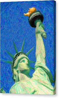 Lady Liberty Canvas Print by Celestial Images