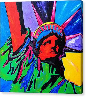 Lady Liberty Canvas Print by Patti Schermerhorn