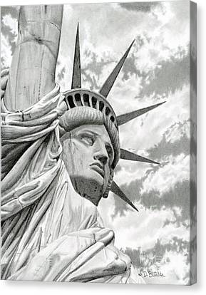 Lady Liberty  Canvas Print by Sarah Batalka