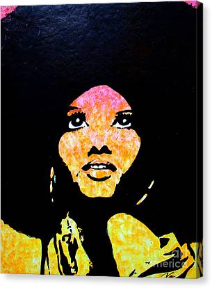 Lady Mahogany Canvas Print by Nic The Artist