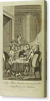 Lady Maria Bayntun Canvas Print by British Library