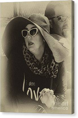 Lady Of Fashion Canvas Print by Rene Triay Photography