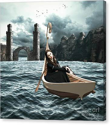 Lady Of Llyn-y-fan Fach Canvas Print by Linda Lees