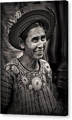 Lady Of Santiago Atitlan Canvas Print by Tom Bell
