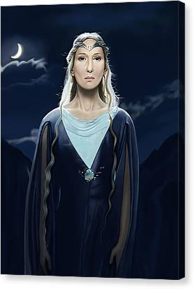 Lady Of The Galadrim Canvas Print by Andrew Harrison