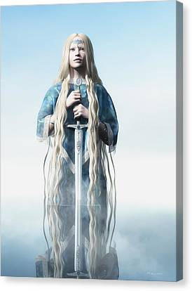 Lady Of The Lake Canvas Print by Melissa Krauss