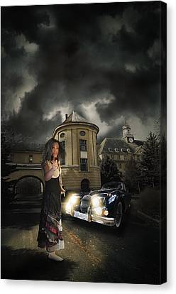 Lady Of The Night Canvas Print by Nathan Wright