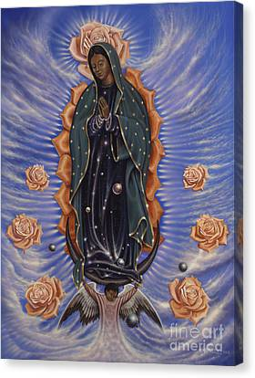 Lady Of The Roses Canvas Print by Ricardo Chavez-Mendez
