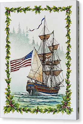 Lady Washington And Holly Canvas Print by James Williamson