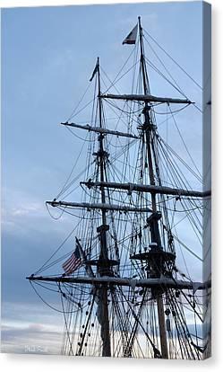 Lady Washington's Masts Canvas Print by Heidi Smith