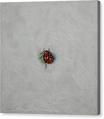 Ladybug Canvas Print by Michael Creese