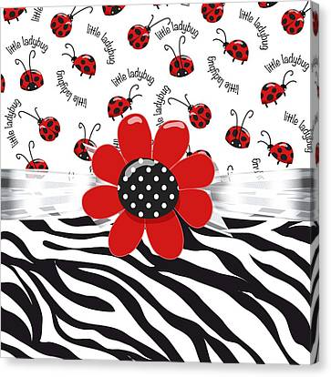 Ladybug Wild Thing Canvas Print by Debra  Miller