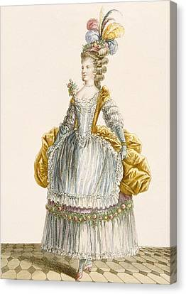 Ladys Ball Gown, Engraved By Dupin Canvas Print by Pierre Thomas Le Clerc