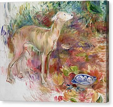Laerte The Greyhound Canvas Print by Berthe Morisot