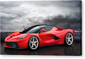 Laferrari Dreamscape Canvas Print by Peter Chilelli