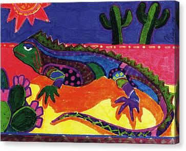 Lagarto Canvas Print by Claire Bistline
