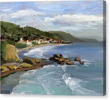 Laguna Beach Canvas Print by Alice Leggett