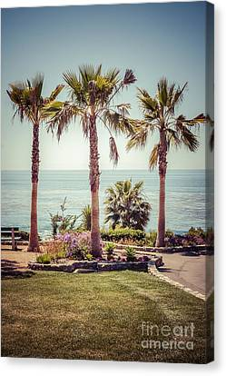 Laguna Beach Heisler Park Retro Picture Canvas Print by Paul Velgos