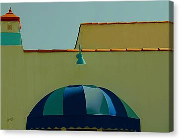 Laguna Beach Roof Canvas Print by Ben and Raisa Gertsberg