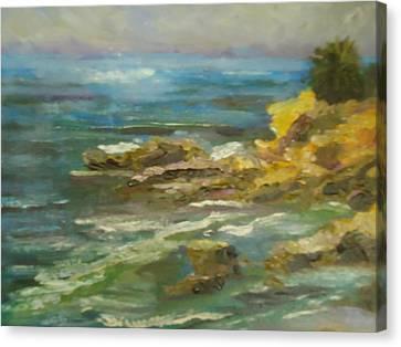Laguna Coast View Canvas Print by Luz Perez