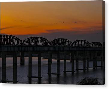 Lake Amistad Sunset Canvas Print by Amber Kresge