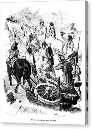 Lake Champlain March, 1776 Canvas Print by Granger
