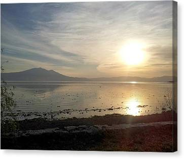 Lake Chapala Sunset - Mexico Canvas Print by Quin Sweetman
