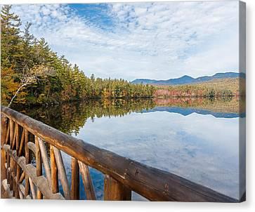 Lake Chocorua And Mount Chocorua From Bridge  Canvas Print by Karen Stephenson