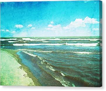 Lake Erie Whitecaps  Canvas Print by Shawna  Rowe