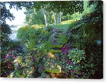 Along The Shore Path - Lake Geneva Wisconsin Canvas Print by Bruce Thompson
