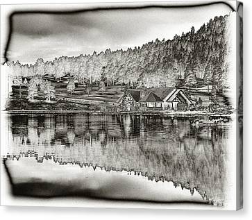 Lake House Reflection Canvas Print by Ron White
