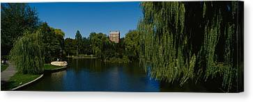 Lake In A Formal Garden, Boston Public Canvas Print by Panoramic Images