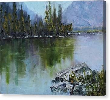 Lake Irwin Canvas Print by Linda Mooney